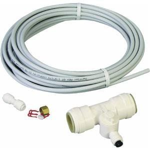 Watts Water Technologies QCK-25 Ice Maker Kit by Watts Water Technologies. $20.62. 1 EACH. PEX ice maker installation kit. 25' x 1/4'' O.D. Pex tubing and shut off tee for ice makers and drinking water lines. For use with 1/2'' copper, PEX, CPVC, polybutylene, and 1/4'' O.D. PEX, polyethylene or copper supply lines for ice makers and water connections in refrigerators.. Save 13% Off!