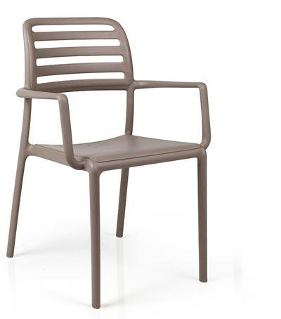 Costa Arm Chair - Taupe - Nardi