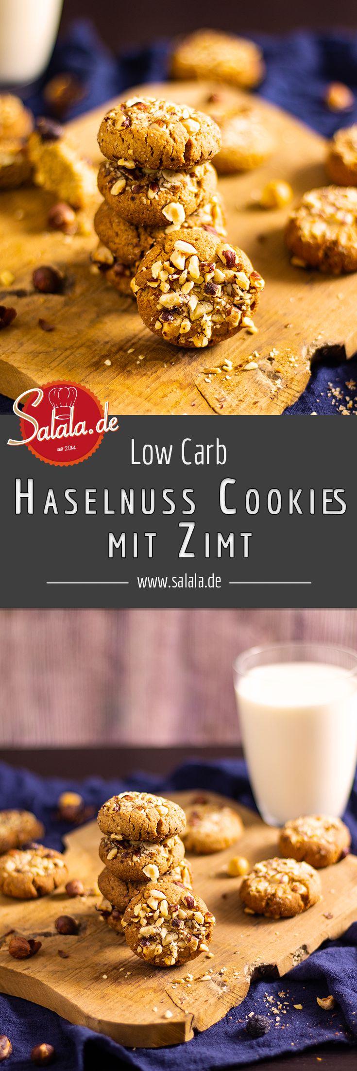 Saftige Zimt-Haselnuss-Cookies ohne Mehl und zuckerfrei
