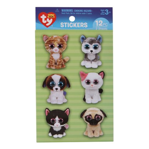 Ty Beanie Boos® Stickers: Pets Theme Wiggle Eye Sticker Pack