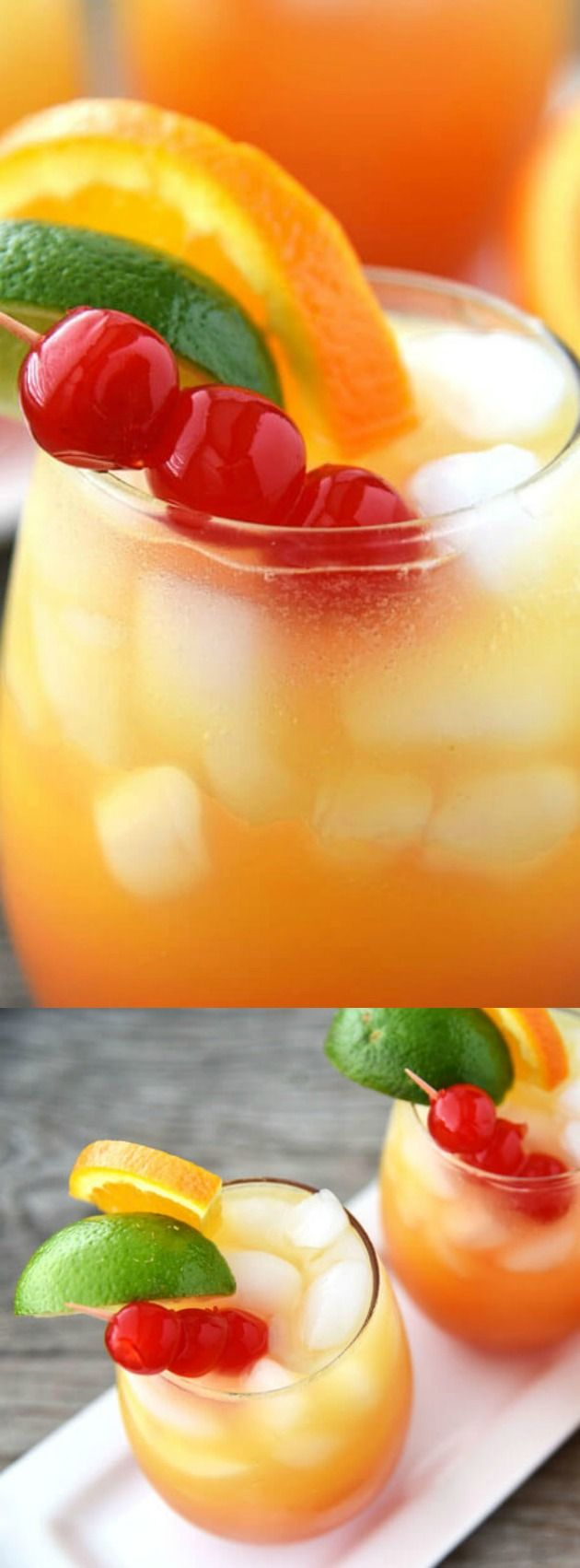 This Mai Tai Mocktail from Cupcake Diaries is a colorful and refreshing drink that the whole family can enjoy! Pineapple, orange, lemon-lime soda and more combine to create one spring and summer drink that everyone will love!