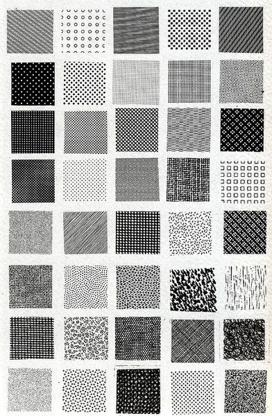 esempi di textures // Bruno Munari