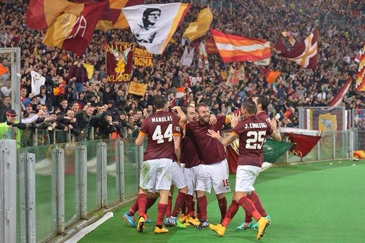 Celebrations after Jose Holebas first (and super!) goal against #Roma4Inter2 #2014/2015 #SerieA