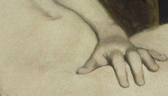 détaille,Olympia, Edouard Manet 1863, 130*190 cm, Paris musée d'Orsa