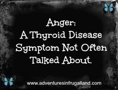 Is it possible that to have psychiatric symptoms of thyroid disease? You absolutely can. Have you ever experienced anger that came out of nowhere? Where you can hear yourself screaming and not unde…