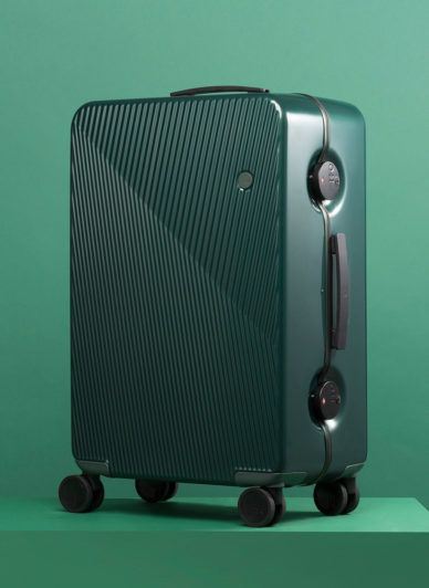 Check this out on leManoosh.com: #Asymmetrical #Cube #Green #Logo #Minimalist #Seamless #squary #Suitcase #Texture #Wheels