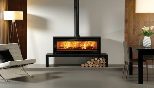 free standing wood burning fireplace | Stovax