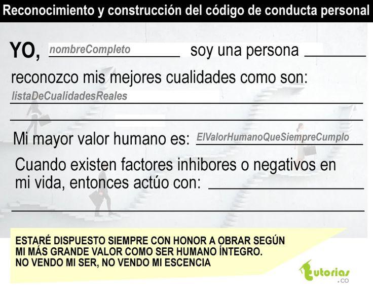 Código de conducta personal.