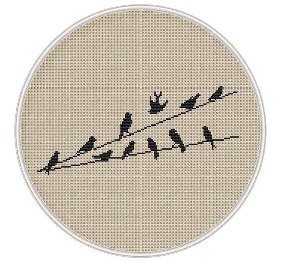 Puntada de Cruz aves contó punto de cruz por MagicCrossStitch