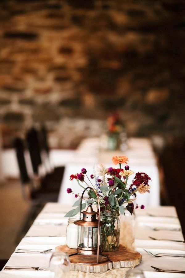 17 best images about tree slices and slabs weddings for Wedding reception centrepieces