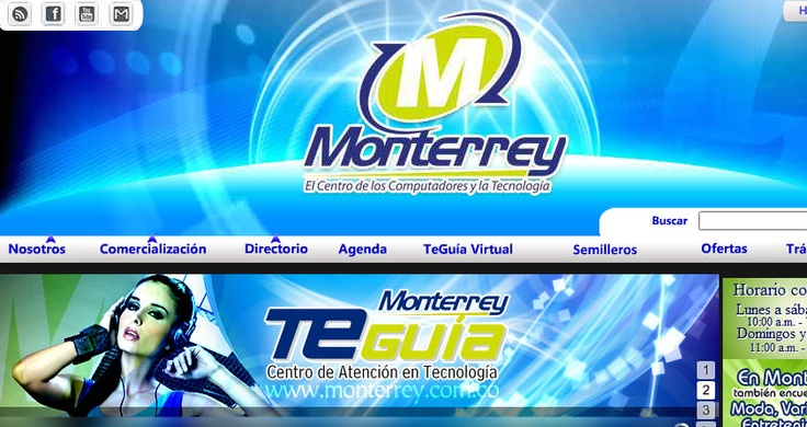 Desarrollo WebSite. Centro Comercial Monterrey.  http://monterrey.com.co