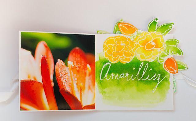 My shiny studio: Watercolor minialbum - Flowers of my garden