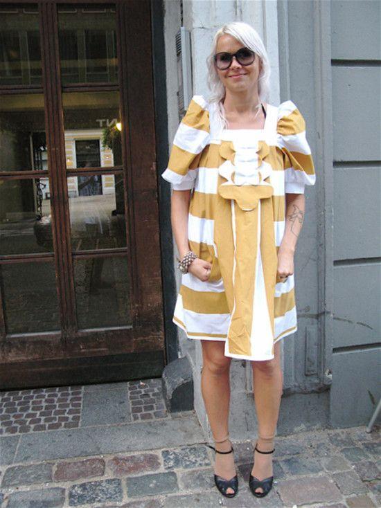 Ivana Helsinki dress worn by a beautiful blonde on Street Peeper #streetstyle