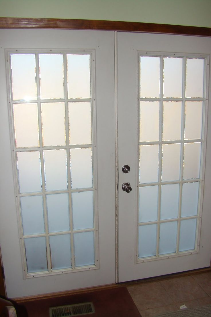 Etched glass doors privacy glass door inserts bamboo pictures to pin - Interior Double Doors With Frosted Glass