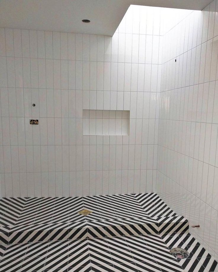 geometric tile floor