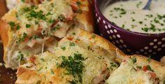 Get The Recipe: Chicken Bacon Alfredo Bread Boat   Cooking Panda
