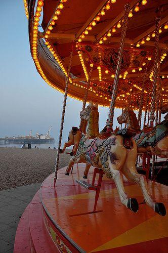 ride the carosel & eat an ice-cream on Brighton beach..