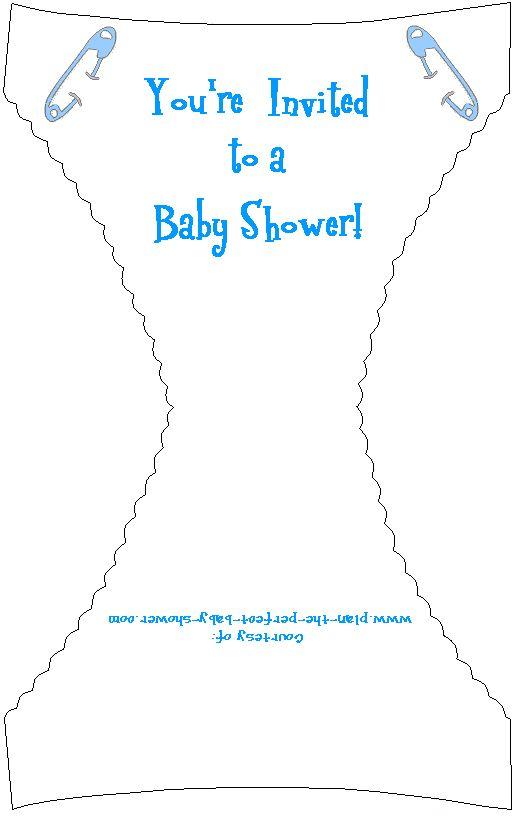 7 best Baby Shower Invitation images on Pinterest Diaper - diaper invitation