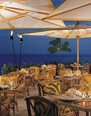 Nothing but the ocean blue - the ultimate outdoor dining experience at Fresco #iHeartLanai #Hawaii: Iheartlanai Hawaii, Favorite Places, The Ocean, Four Seasons, Seasons Lanai, Manele Bay, Ocean View