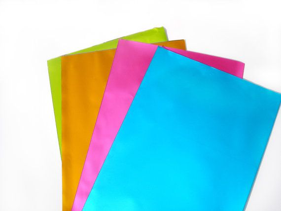 Gift Wrapping Colorful Bags  Metallic Paper Bags Set  by ScrapCati, $7.50