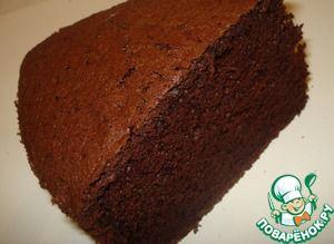"""Шоколадный шифоновый бисквит и торт """"Гормон счастья"""""""