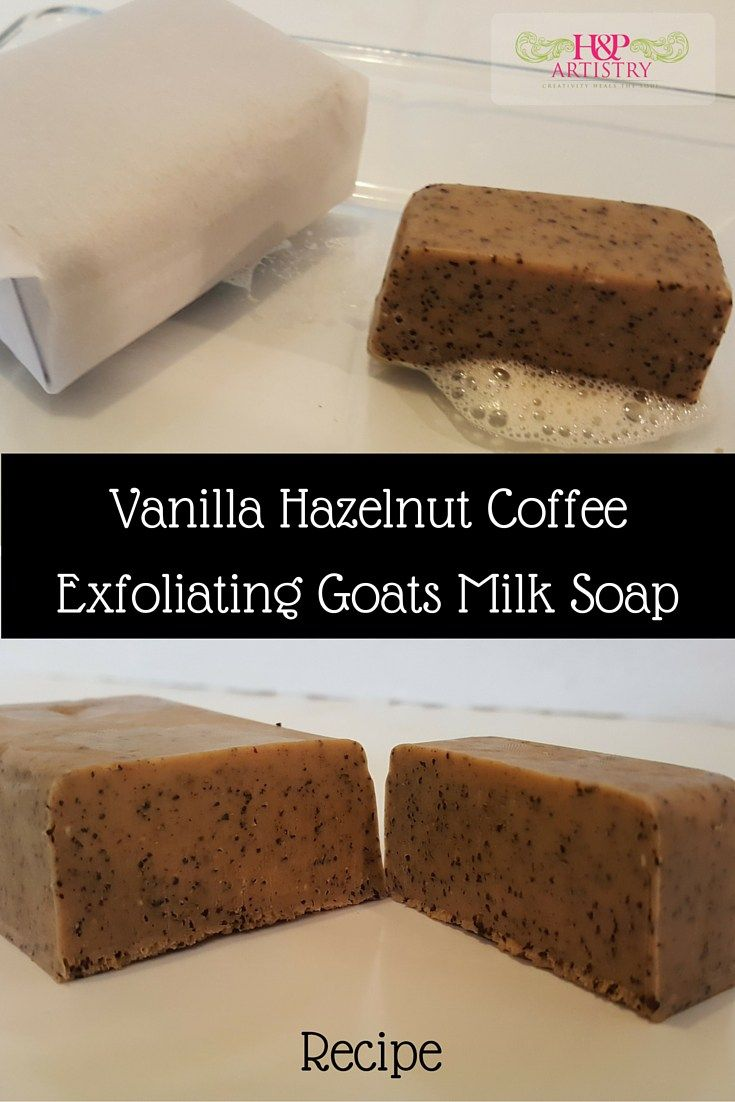 Vanilla hazelnut coffee melt and pour soap recipe Diy homemade soap recipe