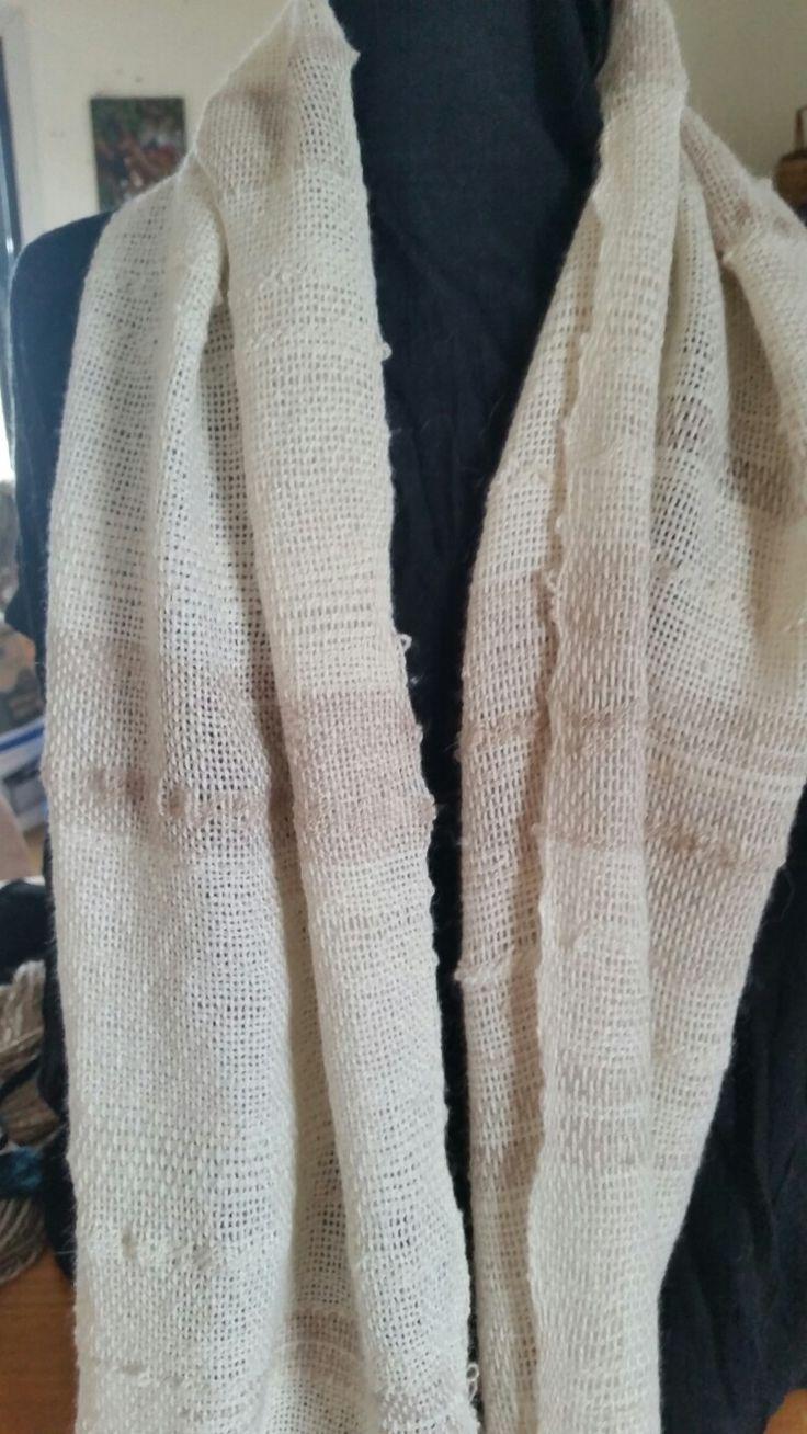 Woven scarf in pure suri alpaca yarn