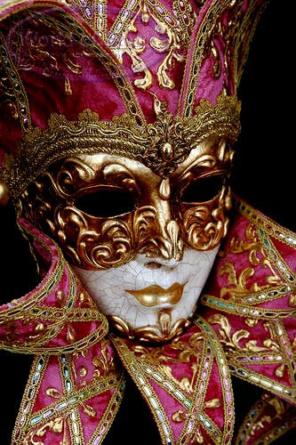 New Orleans Mardi Gras Masks | New Orleans Style Mardi Gras Mask - Black Background Stock Photo ...