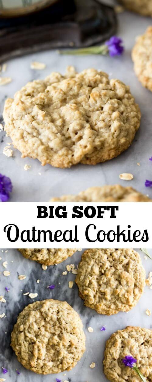 Big soft bakery style oatmeal cookies || Sugar Spun Run via @sugarspunrun