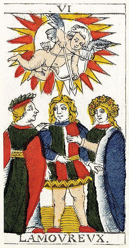 Tarot de Marseille Heritage - Pierre Madenié, Dijon 1709 - L'Amoureux