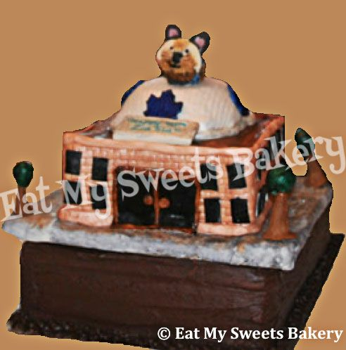 Specialty Cake- Maple Leaf Gardens with custom decorations