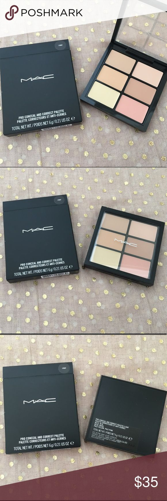 MAC Studio Conceal and Correct Palette Light New in Box, never used or searched. M·A·C Studio Conceal and Correct Palette / Light. A palette with four concealers and two corrector shades to match any skin tone. Makeup Concealer