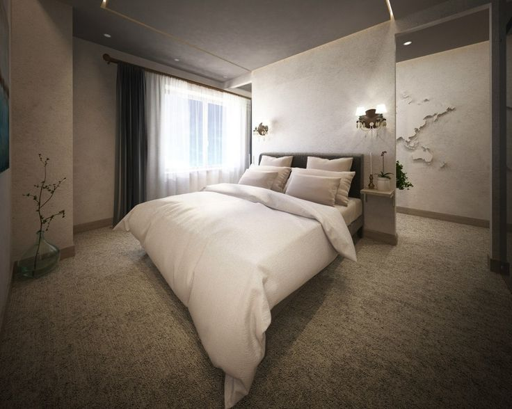 #interior #design #etiqstudio #bedroom #bed #soft #colours #pastel #white #light