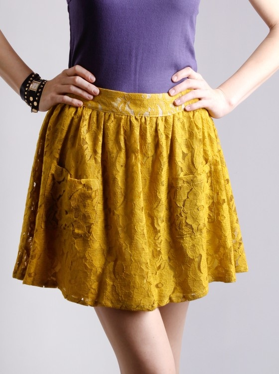 bantu knots hairstyle : Banana Peel Lace Skirt Everyday Style Pinterest Lace, Skirts and ...