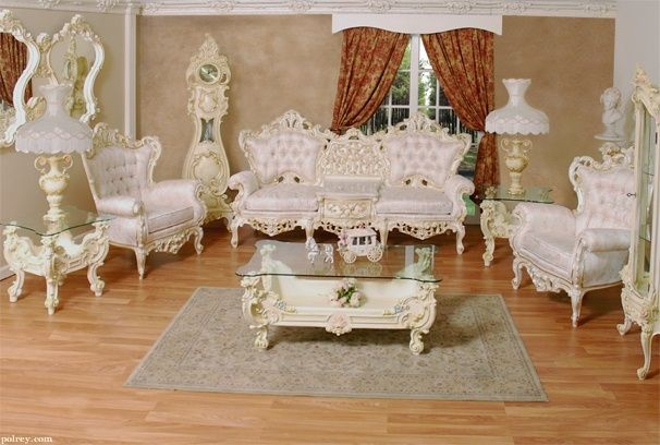 Luxury High End Classic French Provincial Living Room Sofa Chair Set