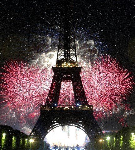 The Eiffel Tower for New Year's...one day