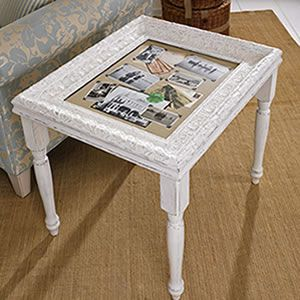 DIY accent table made from a picture frame- takes a bit of work, but gives you a chance to really have something special and unique (tutorial link)