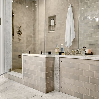 Bathroom Remodel Gray Tile 46 best new kitchen and bathrooms images on pinterest | bathroom