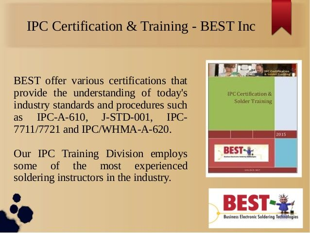 IPC-A-620 is a 4 day lectured, instructor level course that