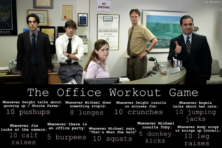 The Office Workout Game! I watch this a lot, so this will come in handy!