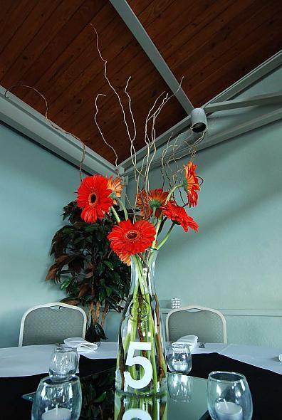 Gerbera Daisy Wedding Centerpieces   Centerpiece/Table number « Weddingbee Gallery