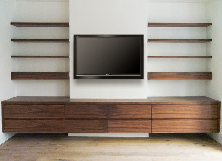 Fresco of Media Wall Shelves: Designs & Pictures