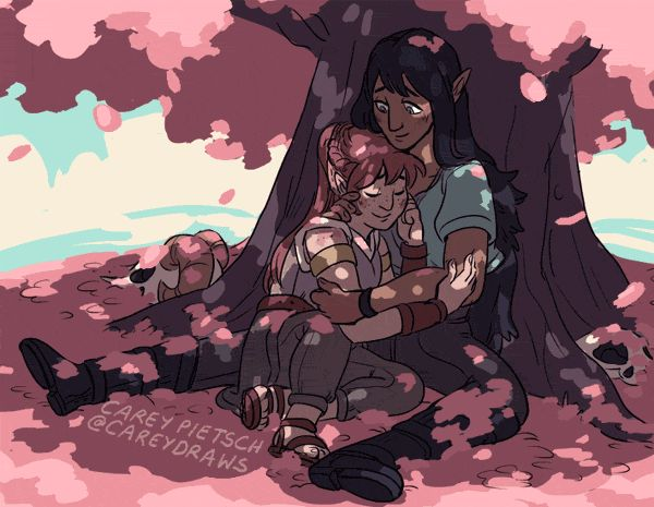 """careydraws: """" My absolute favorite NPCs, Hurley & Sloane from @theadventurezone! It's a live play D&D podcast by the McElroys with a rare, brilliant combo of funny, empathetic, smart players & funny, empathetic, smart writing/ DMing, and I love..."""
