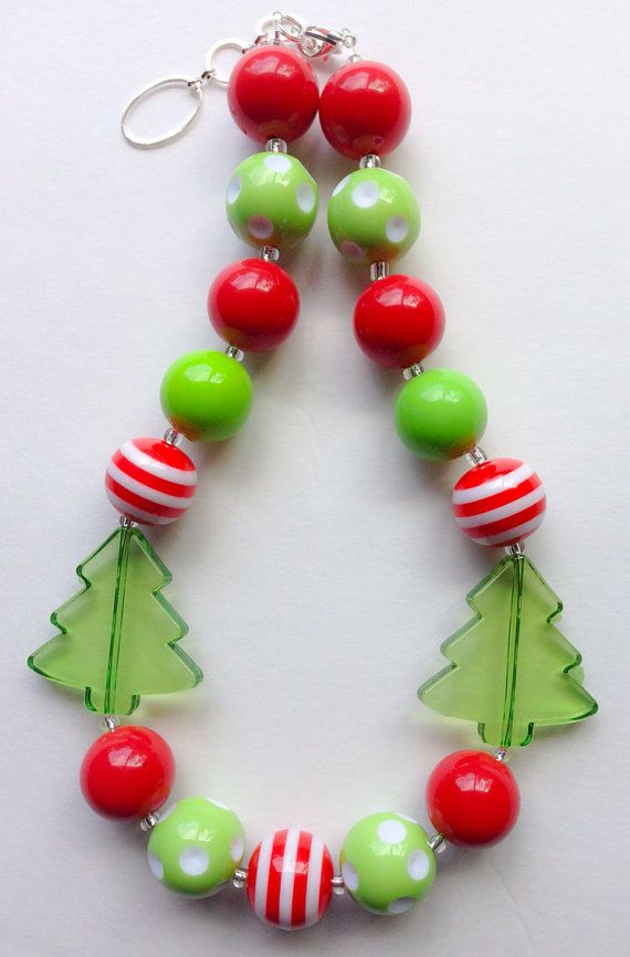 Christmas Chunky Necklace on Etsy, $16.00 https://www.facebook.com/pages/Bella-Girls-Designs/125727740942857?ref=hl