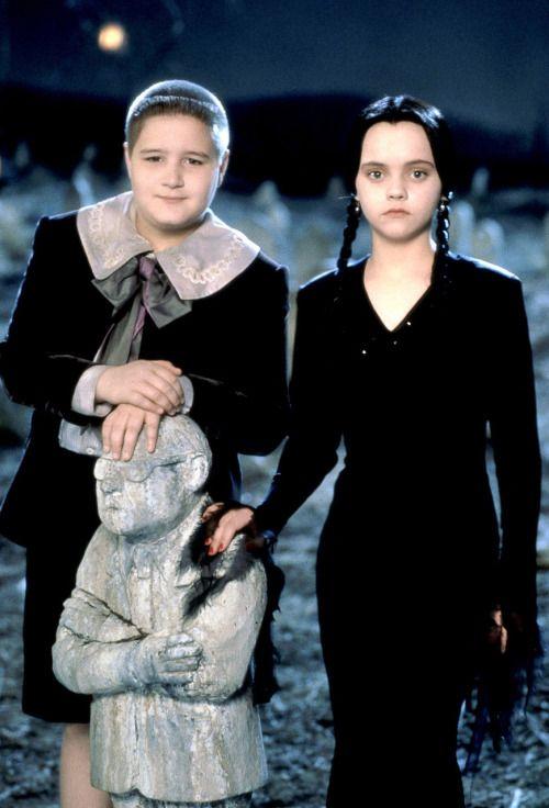 """omgmarri: """" robotsex: """" bohemea: """"Pugsley & Wednesday Addams"""" """""""