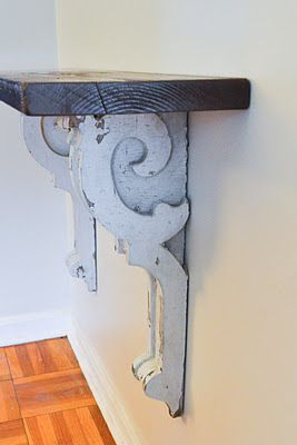 Corbels to add interest to the doorway from the kitchen? Also love this look for my office/craft room/bonus room