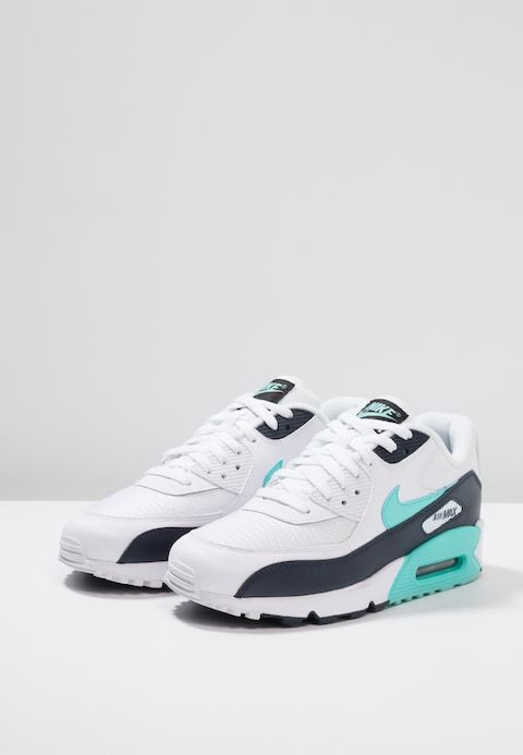 info for f6e49 c4f64 Nike Sportswear AIR MAX 90 ESSENTIAL - Trainers - white aurora green obsidian  - Zalando.co.uk