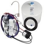 Ultra with Permeate Pump Loaded Under Sink Reverse Osmosis Water Filter System, White