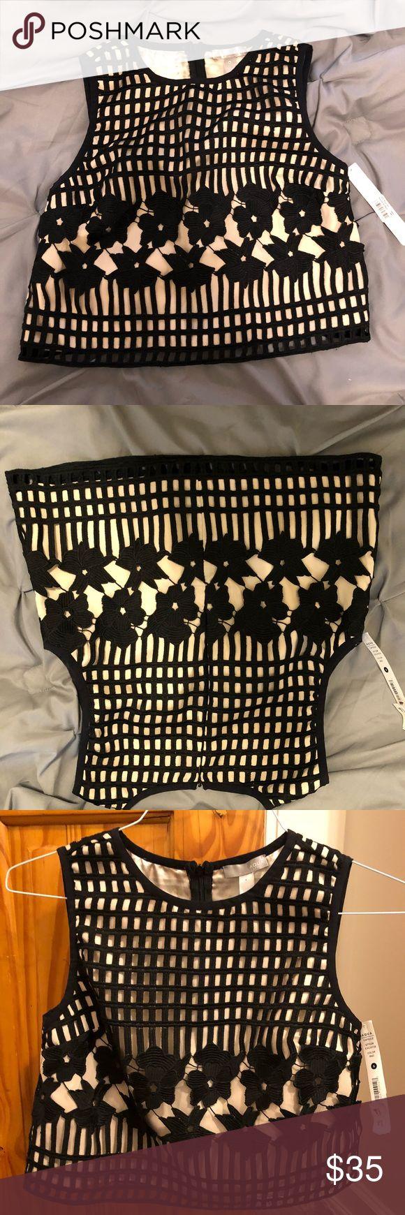 Bloomingdales Aqua Top Brand new  Never worn, labels still attached  Too big for me Aqua Tops