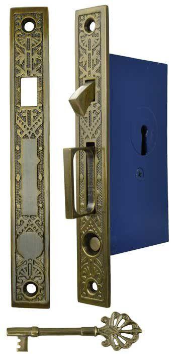 Vintage Hardware & Lighting - Single Pocket Door Mortise Lock Set (ZLW-50F)